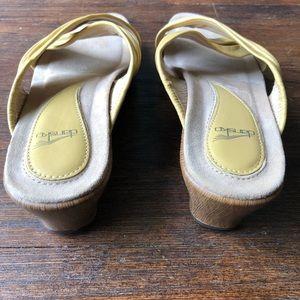Dansko Shoes - Dansko Banana Leather Criss Cross Wedge Sandal EUC
